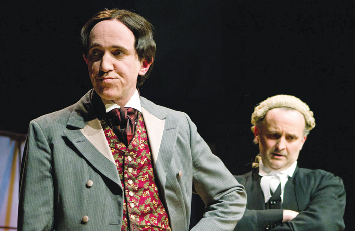 John Gorick and Rupert Mason in The Trials of Oscar Wilde. Photo: Emily Hyland