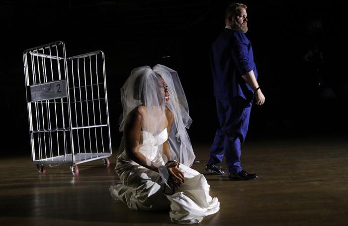 Chrystal E Williams and Brenden Gunnell in Lady Macbeth of Mtsensk. Photo: Adam Fradgley