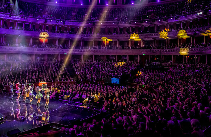 The cast of Six the Musical perform at the Olivier Awards 2019. Photo: Pamela Raith
