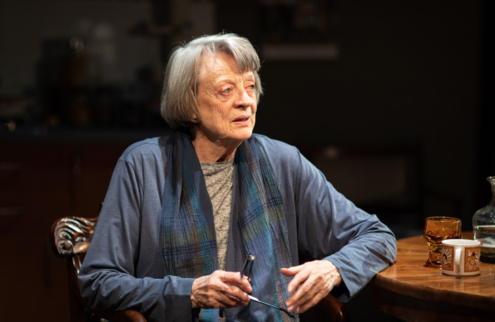 Maggie Smith in A German Life at the Bridge Theatre, London. Photo: Helen Maybanks