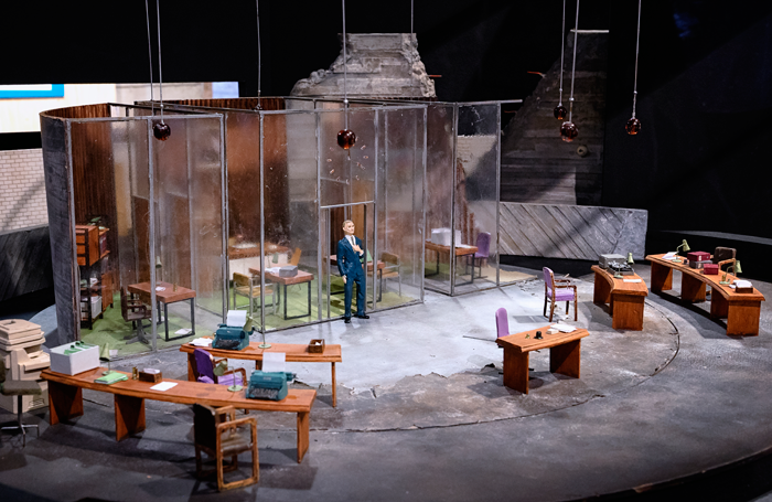Soutra Gilmour's model box for National Theatre's Antigone in 2012; a design that did make the final cut. Photo: James Bellorini