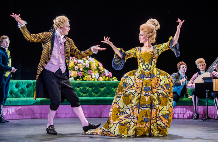 James Laing and Claire Booth in Berenice at Linbury Theatre, London. Photo: Tristram Kenton