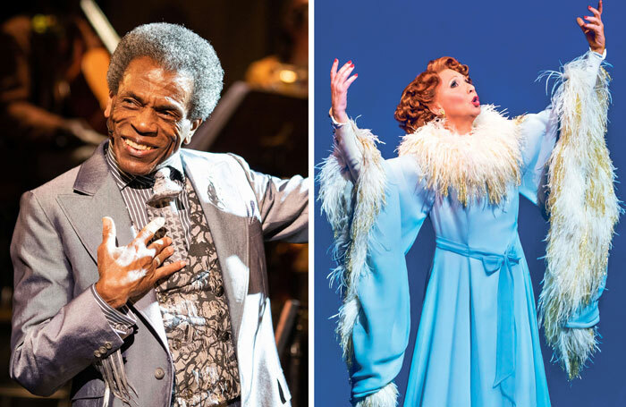 André De Shields in Hadestown (photo: Helen Maybanks) and Bonnie Langford in 42nd Street