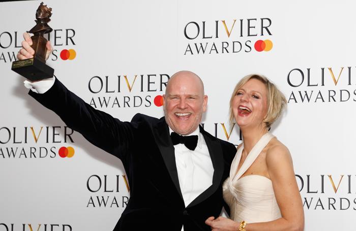 Company producer Chris Harper and director Marianne Elliott. Photo: Pamela Raith