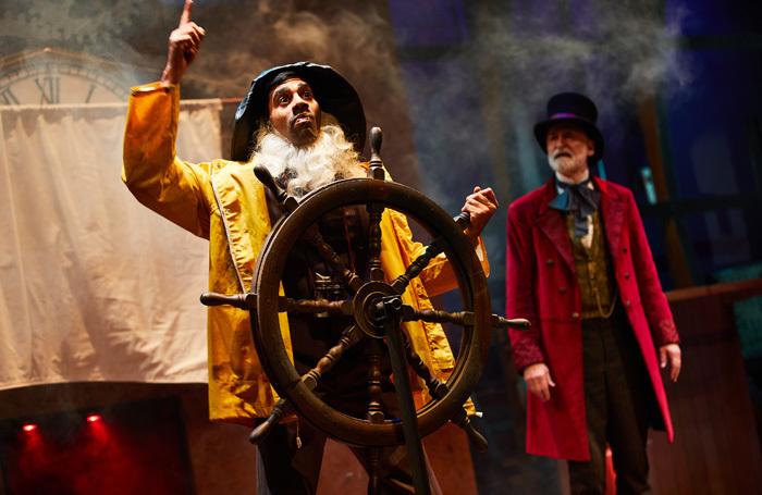 Darren Kuppan and Robert Pickavance in Around the World in 80 Days at Leeds Playhouse. Photo: David Lindsay