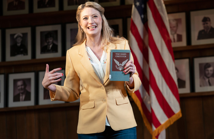 Heidi Schreck in What the Constitution Means to Me at Helen Hayes Theater, New York. Photo: Joan Marcus