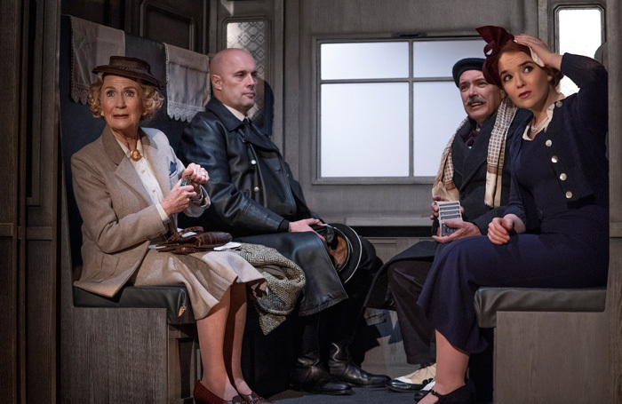 The cast of The Lady Vanishes at Regent Theatre, Stoke-on-Trent. Photo: Paul Coltas