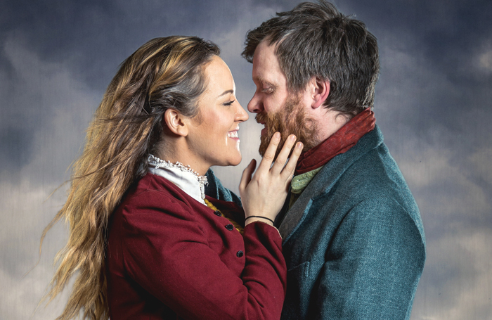 Lauryn Redding and Oliver Hembrough star in the latest revival of The Hired Man at Queen's Theatre, Hornchurch. Photo: Mark Sepple