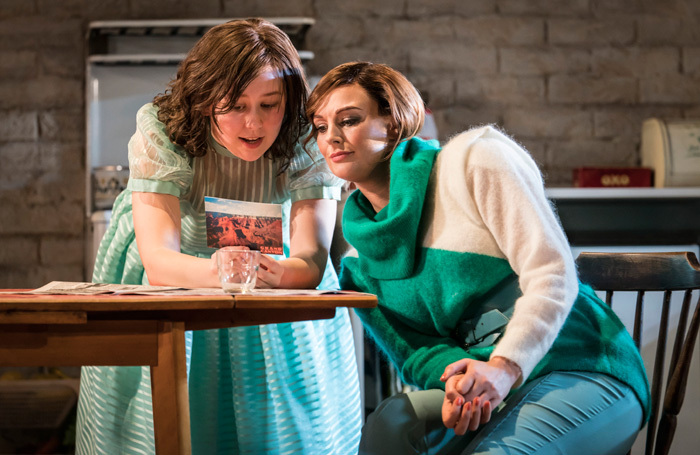 Liv Hill and Katherine Kingsley in Top Girls at National Theatre, London. Photo: Johan Persson
