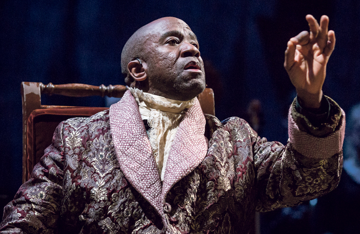 Lucian Msamati as Salieri in the National Theatre's Amadeus. Photo: Marc Brenner
