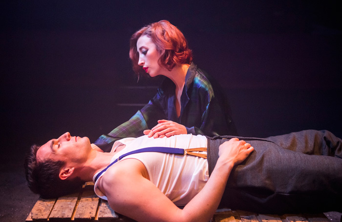 Kara Lily Hayworth and James Darch in Maggie May at Finborough Theatre, London. Photo: Tristram Kenton