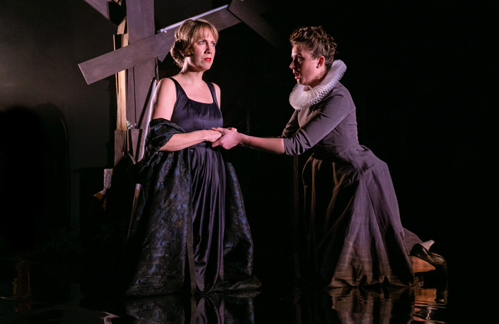 Flora McIntosh and Emma Watkinson in OperaUpClose's Mary Queen of Scots. Photo: Andreas Grieger