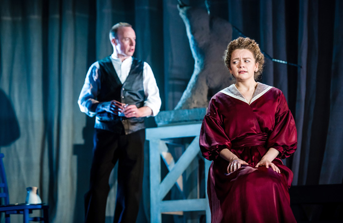 Robin Laing and Esme Bayley in Gaslight at Perth Theatre. Photo: Mihaela Bodlovic