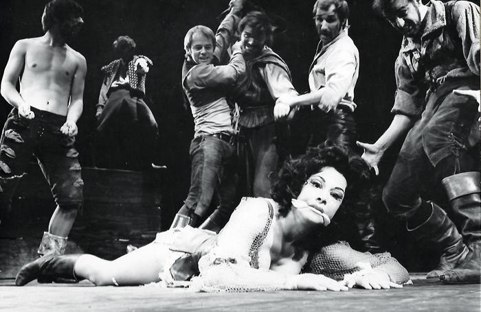 Ruth Silvestre as Aldonza in Man of La Mancha in 1968