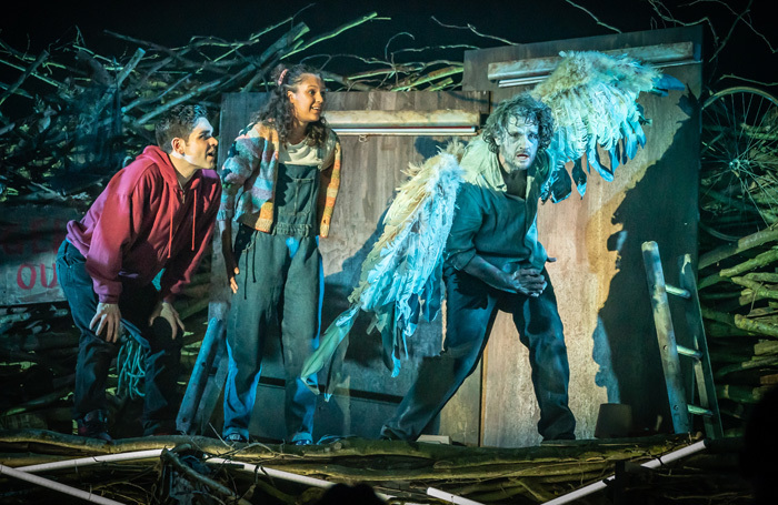Sam Swann, Kate Okello and Edward Harrison in Skellig at Nottingham Playhouse. Photo: Marc Brenner
