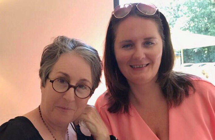 Fame TV series cast member Valerie Landsburg with Sue Hinds, producer of Fame! UK Reunion