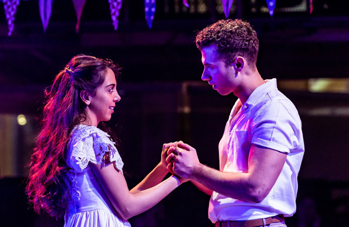 Gabriela Garcia and Andy Coxon in West Side Story at the Manchester Royal Exchange. Photo: The Other Richard