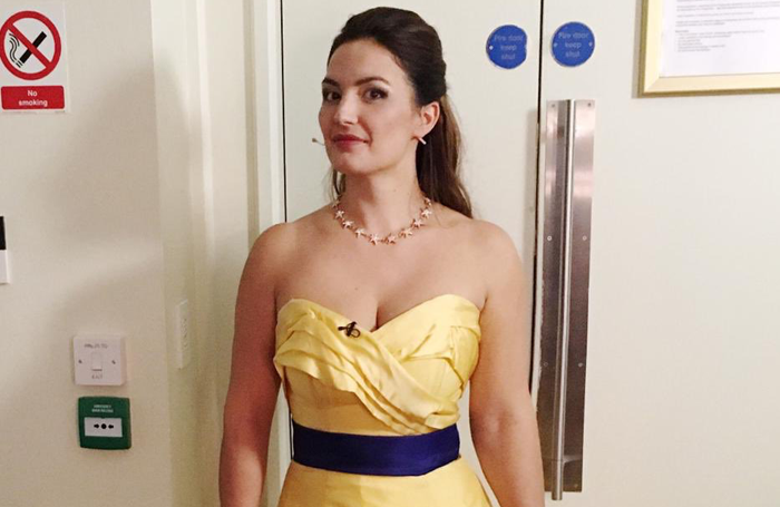 Anna Patalong in her original dress. Photo: Benedict Nelson/Twitter