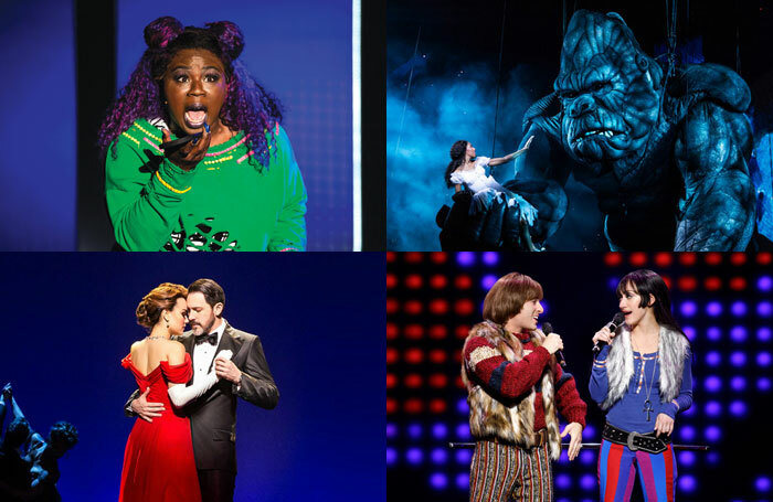 (l-r) Be More Chill, King Kong, Pretty Woman and The Cher Show are among the newest crop of musicals on Broadway