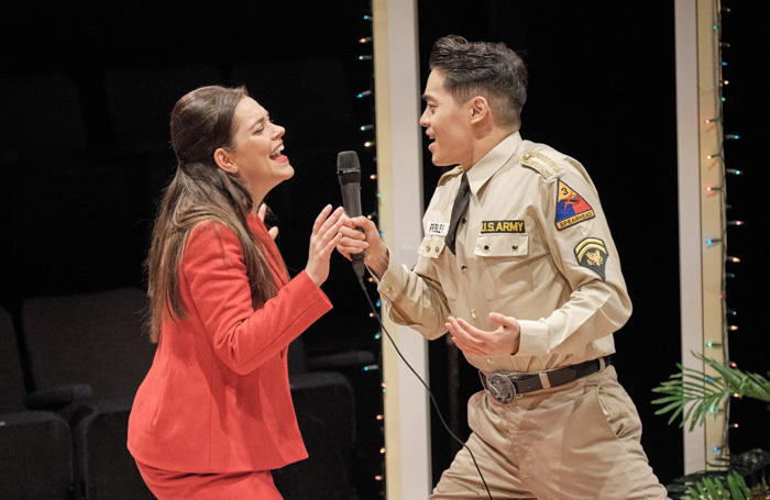 Rachael Henley and Jun Hwang in Martha, Josie and the Chinese Elvis. Photo: Tony Bartholomew