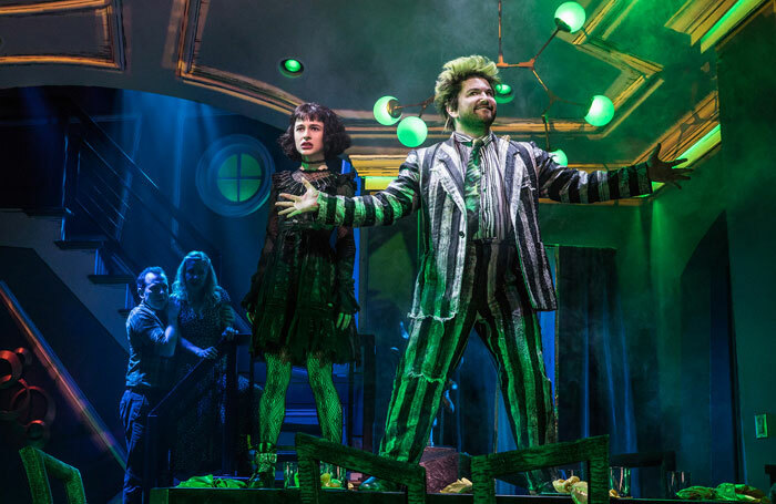 Sophia Anne Caruso and Alex Brightman in Beetlejuice. Photo: Matthew Murphy