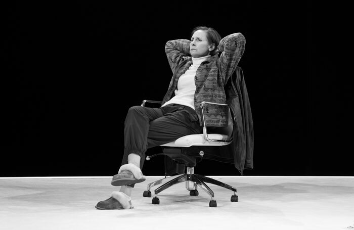 Laurie Metcalf in Hillary and Clinton at Golden Theatre, New York. Photo: Julieta Cervantes