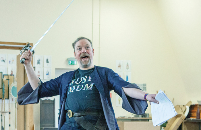 Rufus Hound in rehearsal for The Provoked Wife. Photo: Pete Le May / RSC
