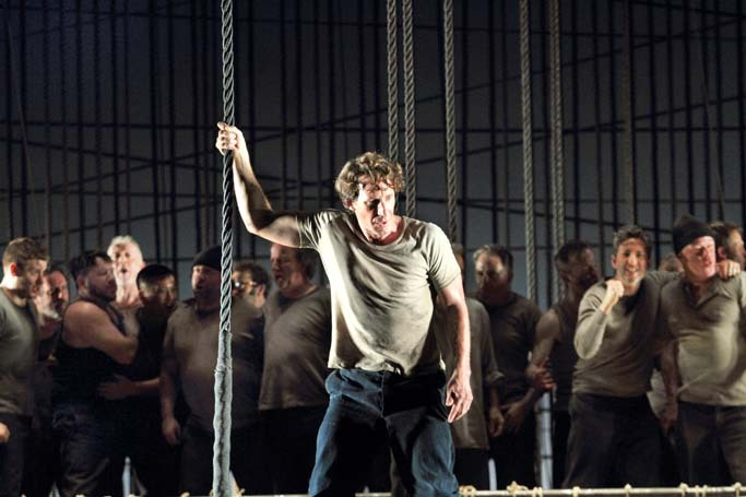 Jacques Imbrailo in Billy Budd at the Royal Opera House, London. Photo: Catherine Ashmore