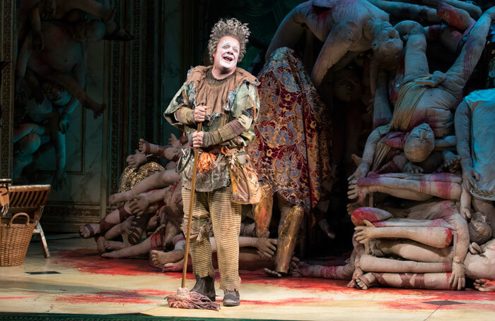 Nathan Lane in Gary: A Sequel to Titus Andronicus at Booth Theatre, New York. Photo: Julieta Cervantes