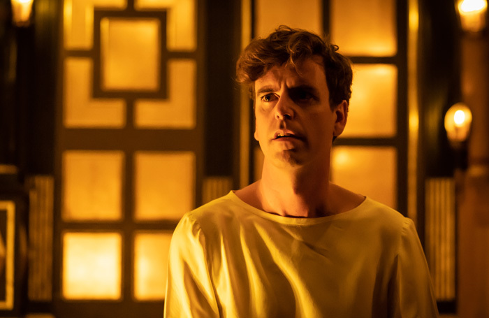 Tom Stuart in After Edward at Sam Wanamaker Playhouse, London. Photo: Marc Brenner