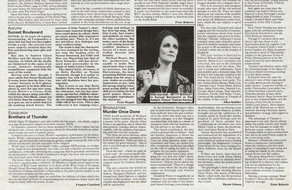 How we reported Sunset Boulevard's (second) opening night in the West End – 25 years ago in The Stage