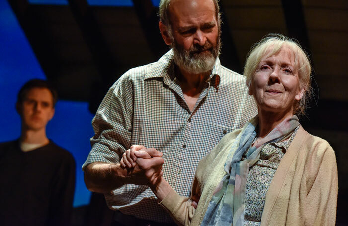 Robin Herford and Liz Crowther in Visitors at Oldham Coliseum. Photo: Joel Chester Fildes