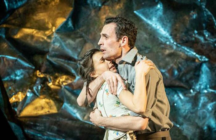Madison Clare and Alex Mugnaioni in Captain Corelli's Mandolin. Photo: Marc Brenner