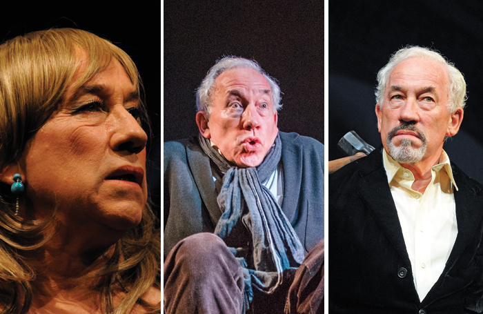 Simon Callow is well known for his one-man shows. Pictured in: Tuesdays at Tesco's, A Christmas Carol and Inside Wagner's Head. Photos: William Burdett-Coutts/Tristram Kenton