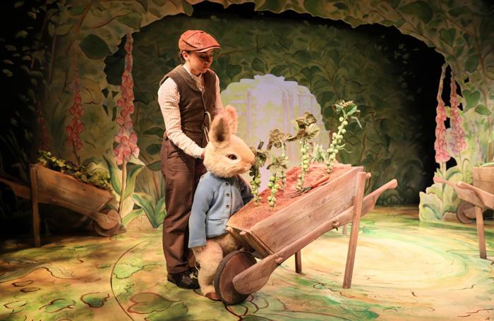 Charlotte Harrington in Where is Peter Rabbit? at Theatre Royal Haymarket. Photo: Steven Barber