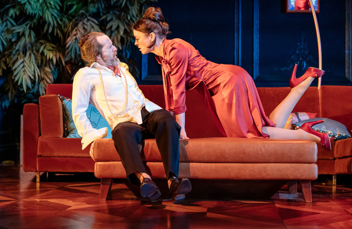 Denis O'Hare and Olivia Williams in Tartuffe at the National Theatre, London. Photo: Manuel Harlan