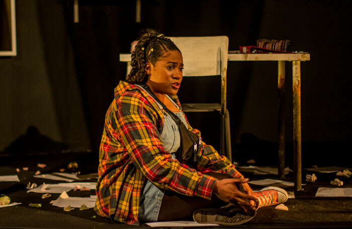 Emma Dennis-Edwards in Funeral Flowers at the Bunker, London. Photo: Kofi Dwaah
