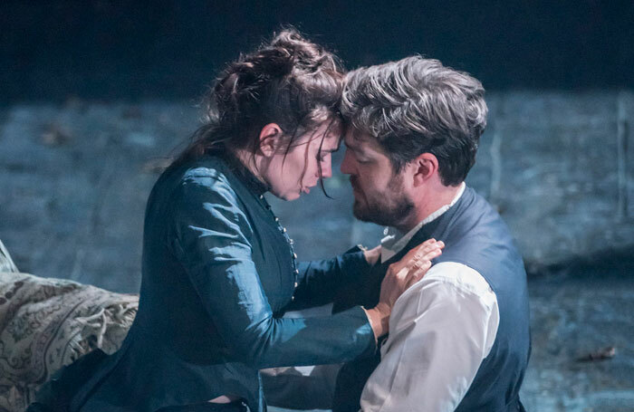 Hayley Atwell and Tom Burke in Rosmersholm at Duke of York's Theatre. Photo: Johan Persson
