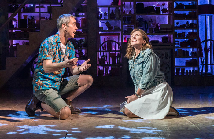 James Nesbitt and Clare Burt in This Is My Family at Minerva Theatre, Chichester. Photo: Johan Persson