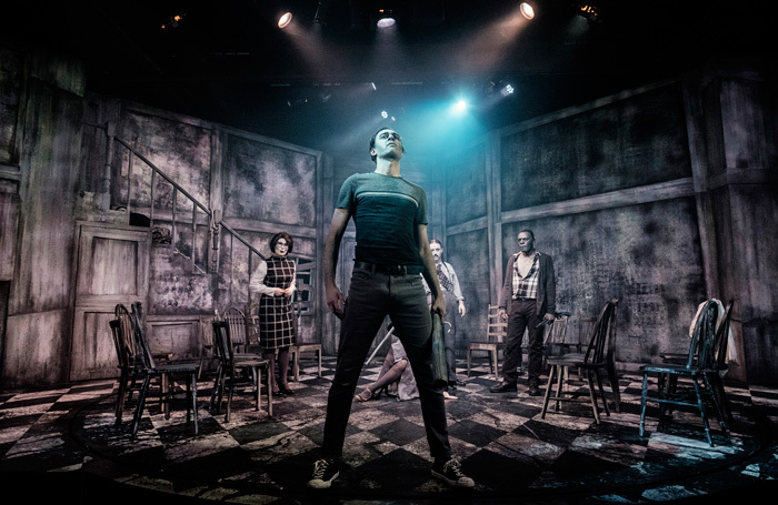 Jennifer Harding, Tama Phethean, Marc Pickering and Ashley Samuels in Night of the Living Dead Live at Pleasance Theatre, London. Photo: Claire Bilyard