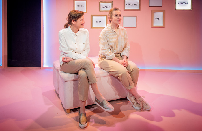 Katy Stephens and Emma Fielding in Mary's Babies at Jermyn Theatre, London. Photo: Robert Workman