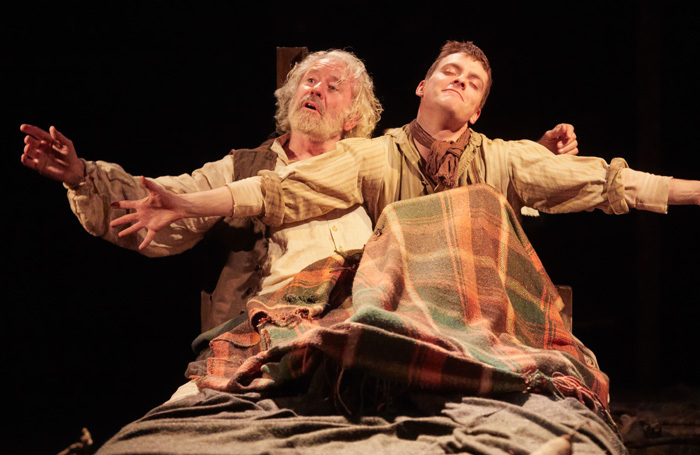 Thomas Grant and John O'Mahony in Intemperance at New Vic. Photo: Mark Douet