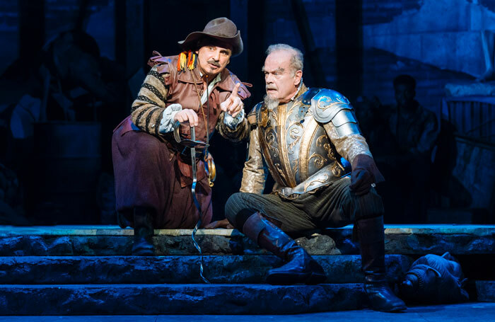 Peter Polycarpou and Kelsey Grammer in Man of La Mancha at London Coliseum. Photo: Manuel Harlan