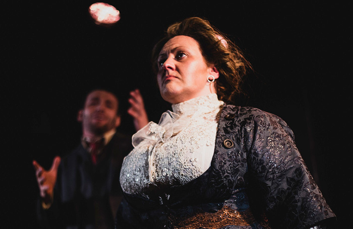 Trudi Camilleri in Queen of the Mist at Jack Studio Theatre, London. Photo: Stephen J Russell