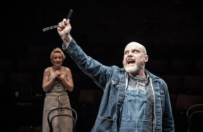 Kacey Ainsworth and Liam Tobin in Sweeney Todd at Liverpool Everyman. Photo: Marc Brenner