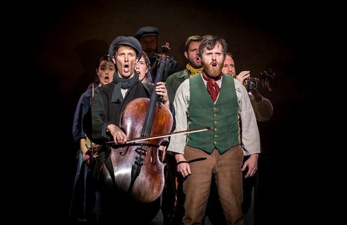 TJ Holmes and Oliver Hembrough in The Hired Man at Queen's Theatre, Hornchurch.  Photo: Mark Sepple