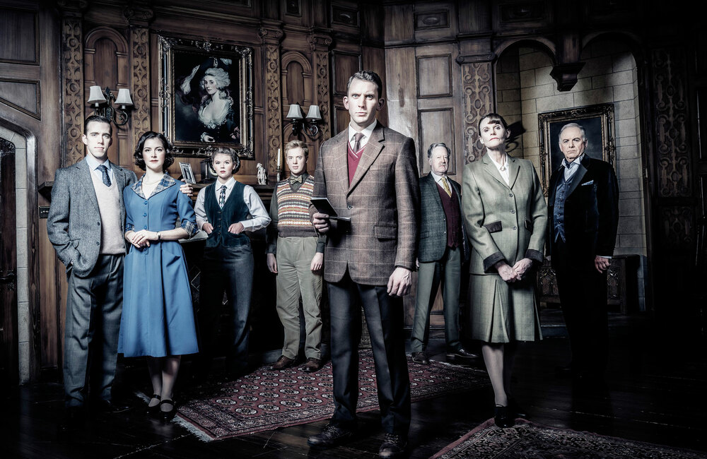 The cast of The Mousetrap at Northcott Theatre, Exeter. Photo: Johan Persson