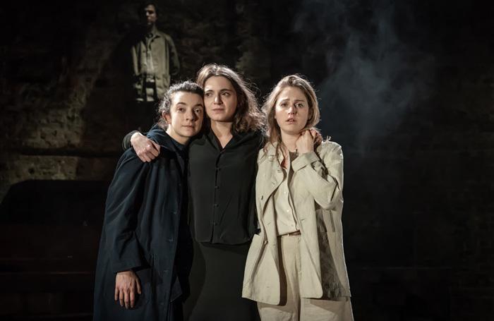 Patsy Ferran, Pearl Chanda and Ria Zmitrowicz in Three Sisters at Almeida Theatre, London. Photo: Marc Brenner