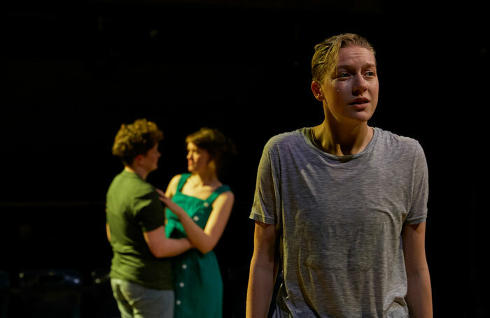 Zoe West, Lucy Briggs-Owen and Tilda Wickham in Out of Water at Orange Tree Theatre, London.  Photo: The Other Richard