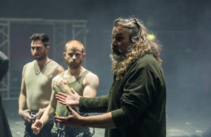Artistic director Tom Rack talking to performers. Photo: Richard Davenport